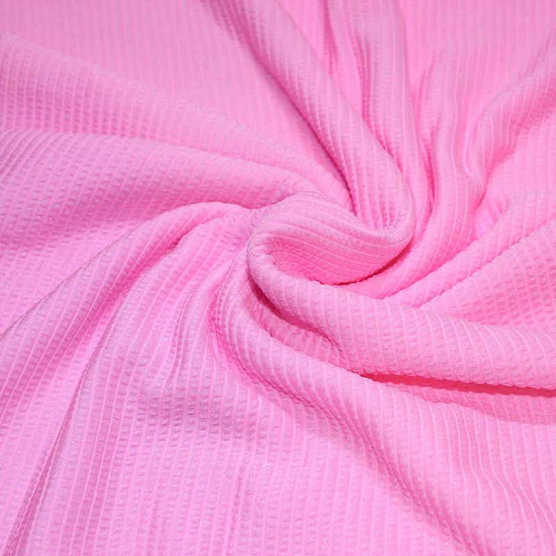 Lycra danse gaufrées rose bonbon