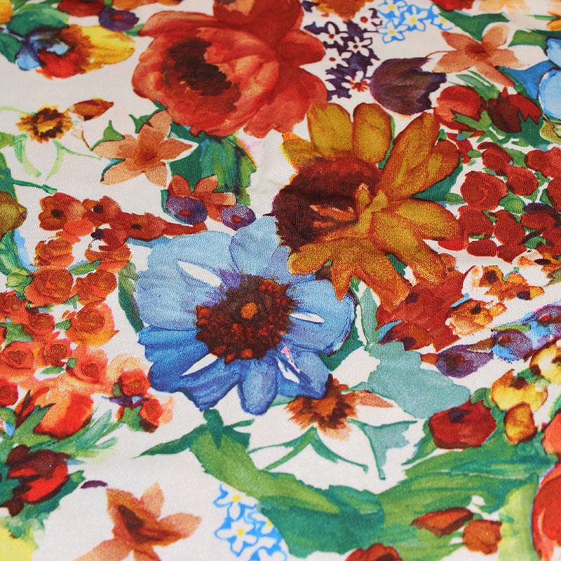 Lycra danse motifs Satiné fleurs d'été