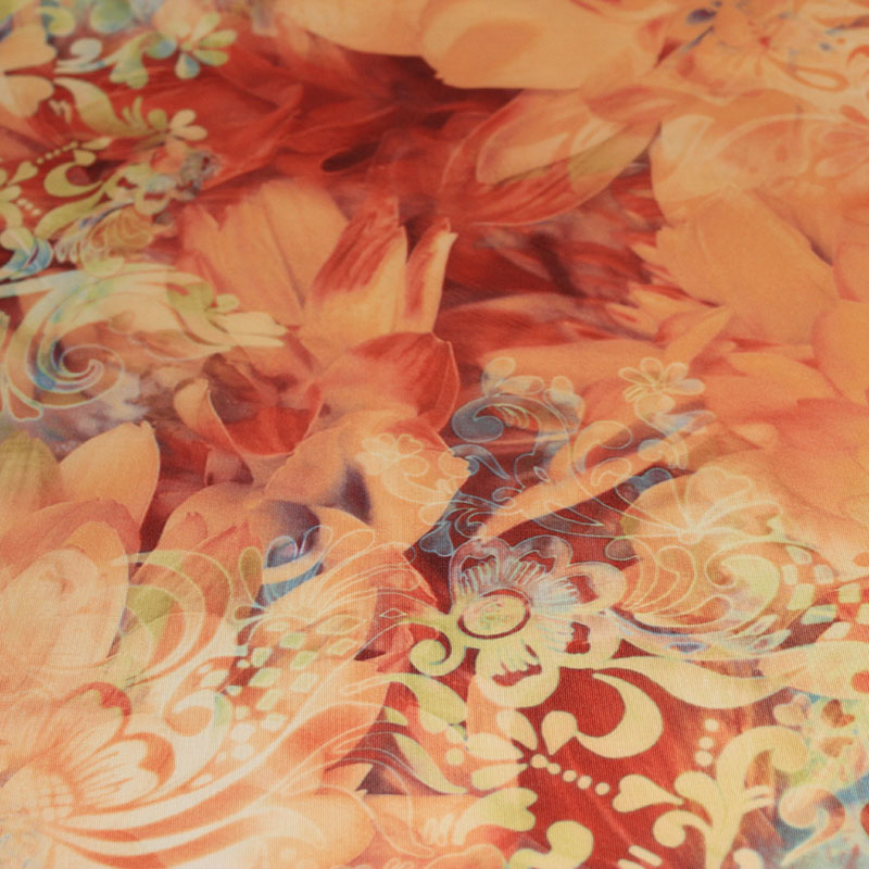 Lycra danse motifs Fleurs d'automne