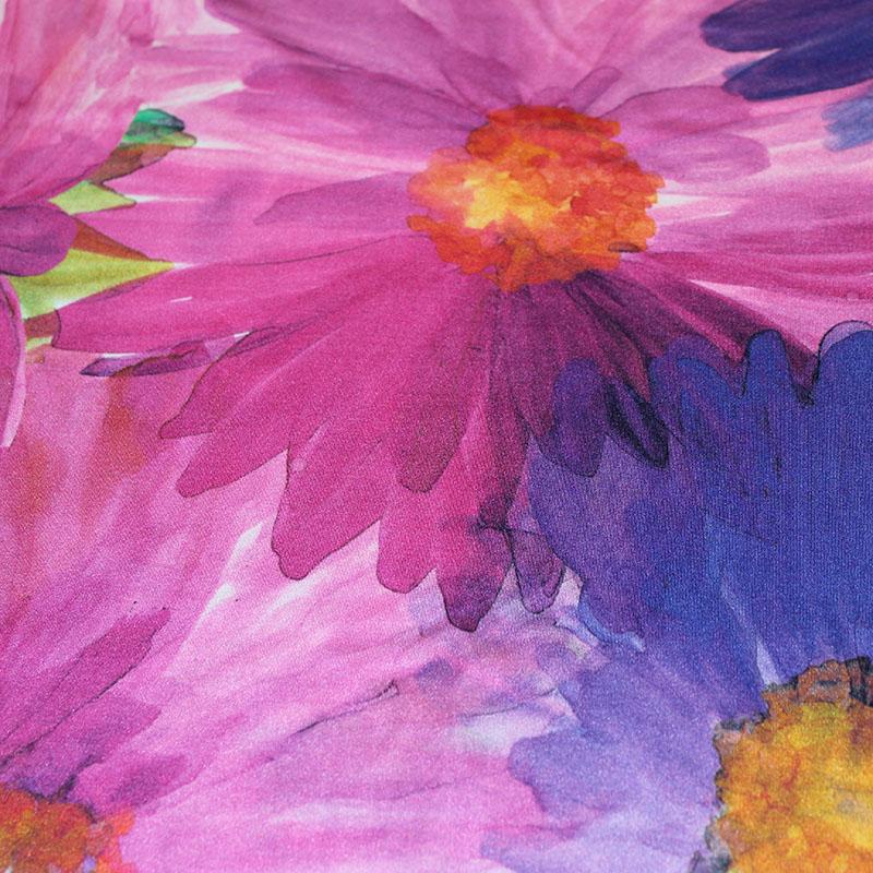 Lycra danse motifs Grandes fleurs aquarelle