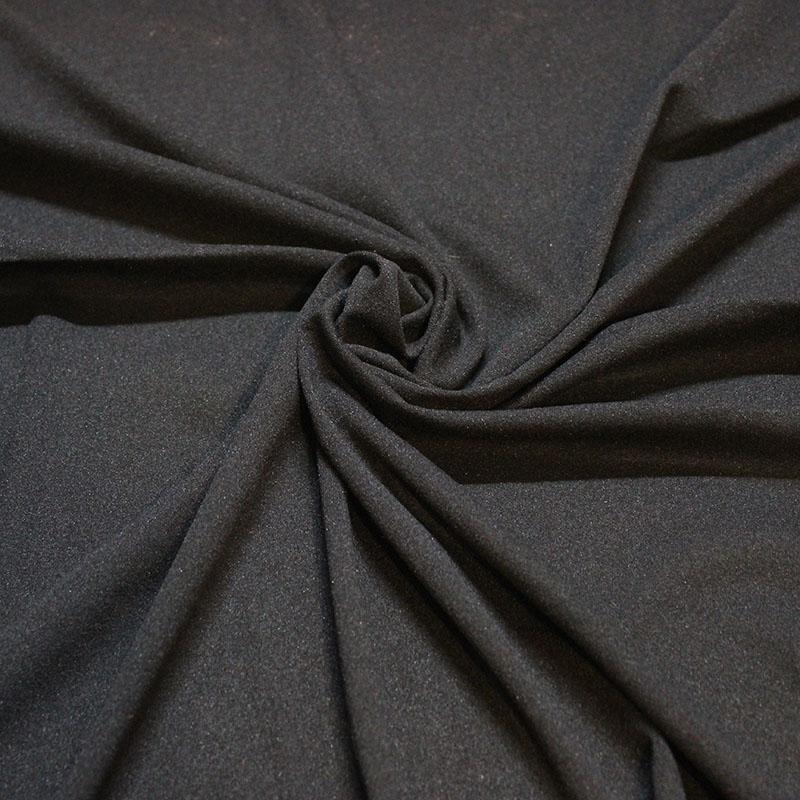 Tissus danse Nylon mousse noir opaque